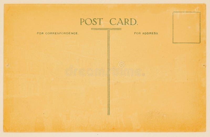 Cartão postal retro para colocar mensagens e endereços backside Textura (de papel) enrugada Com lugar seu texto, uso do fundo fotos de stock royalty free
