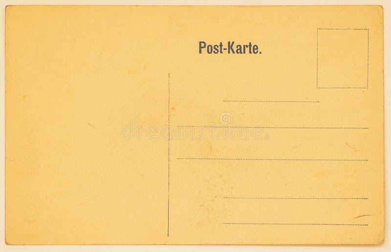 Cartão postal velho para colocar mensagens e endereços backside Textura (de papel) enrugada Com lugar seu texto, uso do fundo imagens de stock