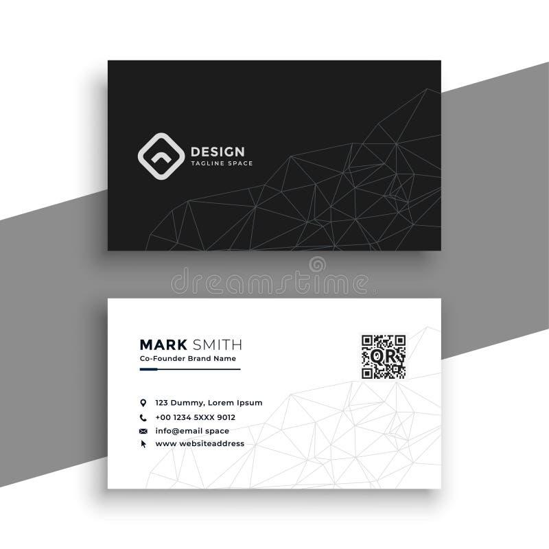 Cartão preto e branco simples ilustração do vetor