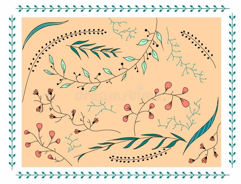 Cartão puro do nativo da natureza da cor pastel do teste padrão floral imagem de stock royalty free