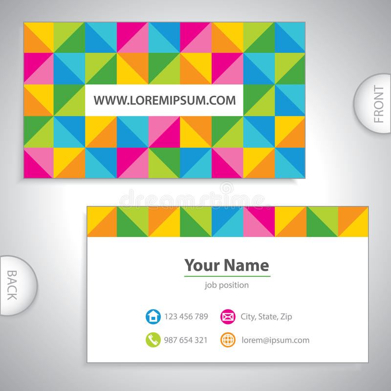 Cartão quadriculado colorido. ilustração stock