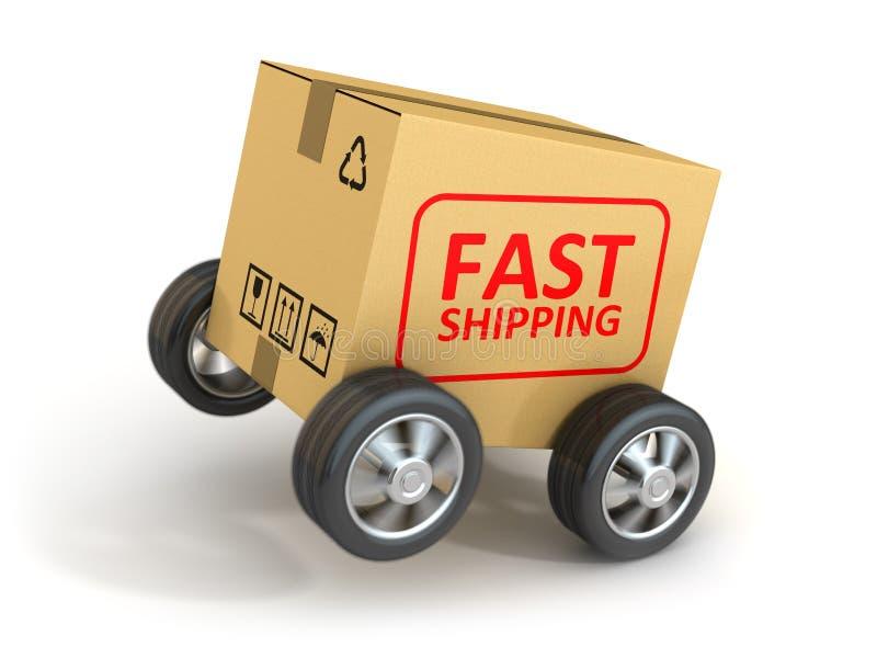 Cartão rápido do transporte ilustração do vetor
