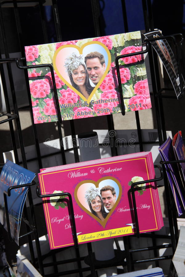 Cartão reais do casamento fotos de stock