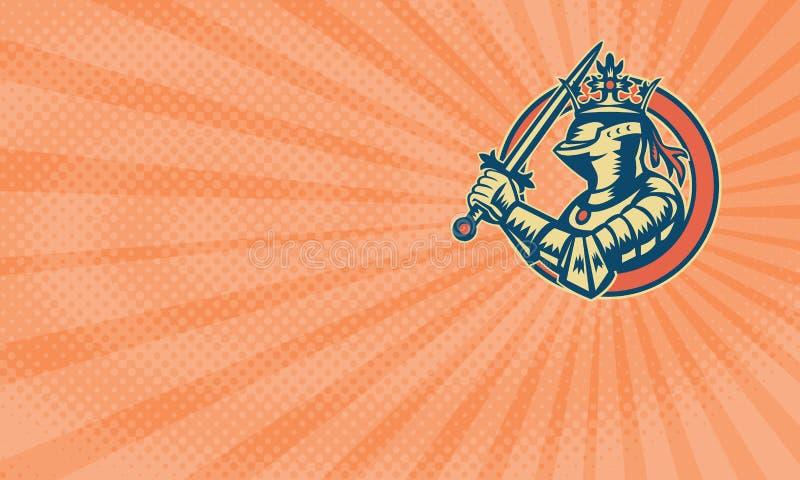 Cartão real de Athletics Business do cavaleiro ilustração do vetor