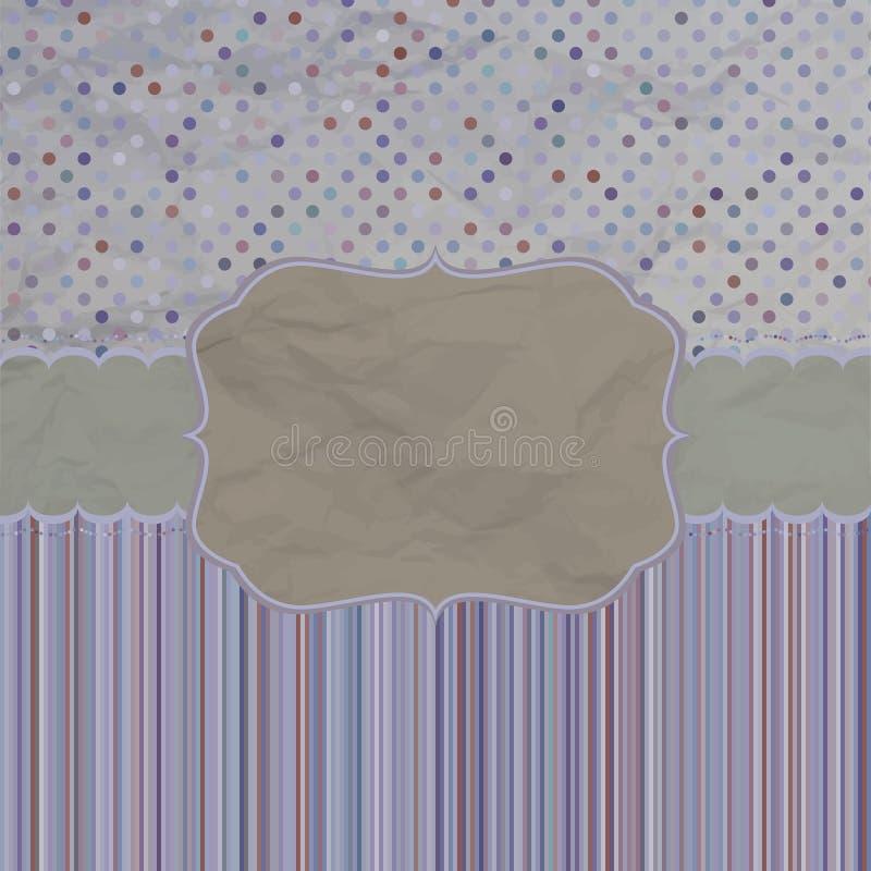Cartão retro de cumprimento do projeto do molde. EPS 8 ilustração do vetor