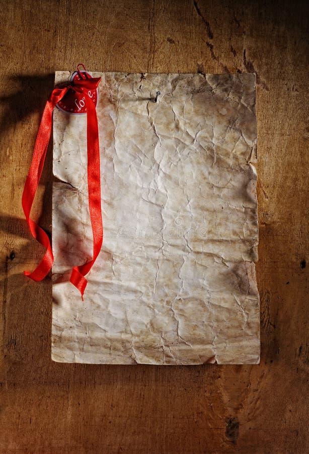 Cartão retro do Valentim imagens de stock