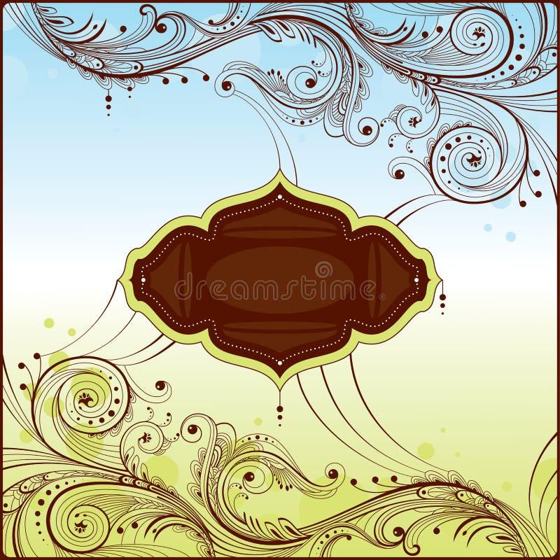Cartão retro floral ilustração royalty free