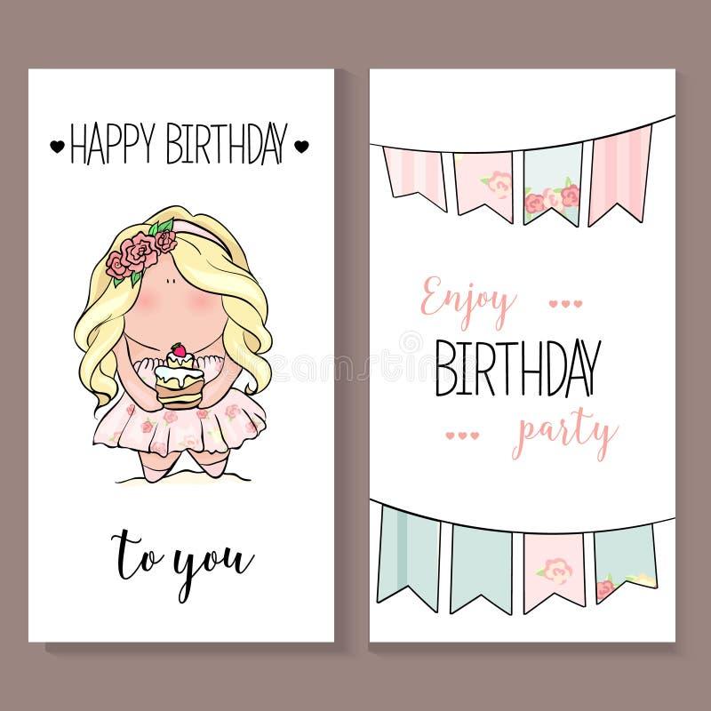 Cartão romântico do anúncio ou das felicitações do convite ilustração royalty free