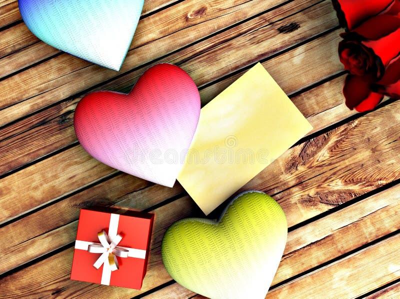 Cartão romântico para felicitações imagens de stock royalty free