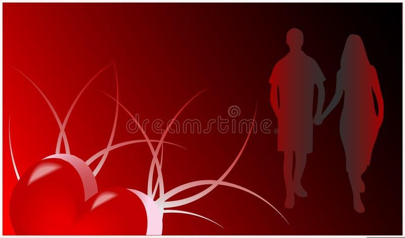 Cartão romance ilustração stock