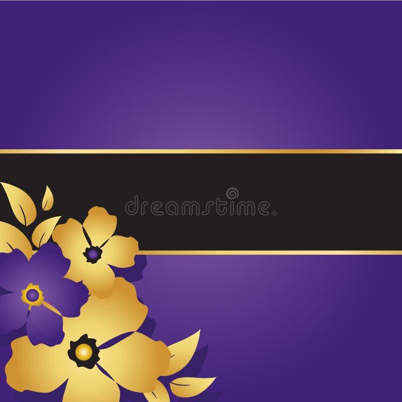 Cartão roxo floral foto de stock royalty free