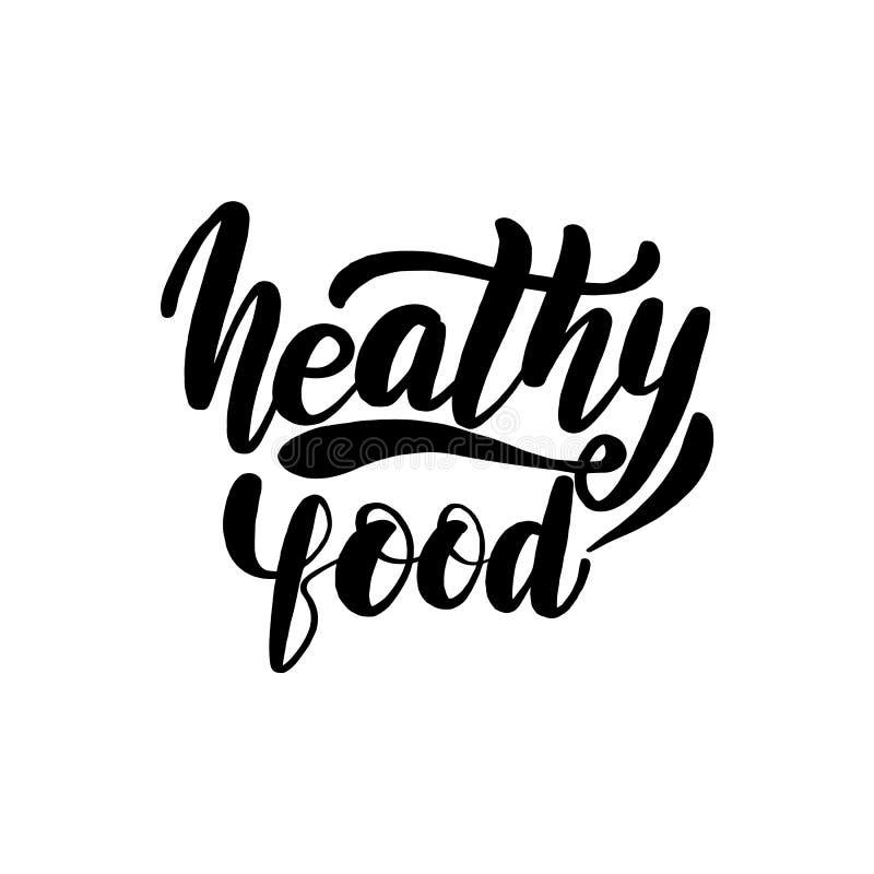 Cartão saudável da rotulação do alimento ilustração do vetor