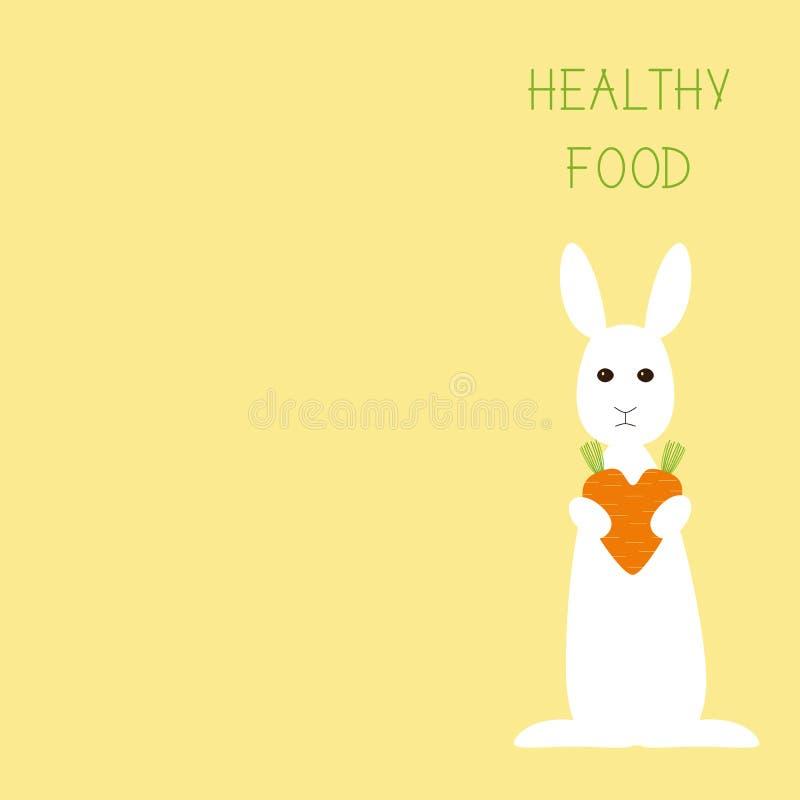 Cartão saudável do alimento ilustração royalty free