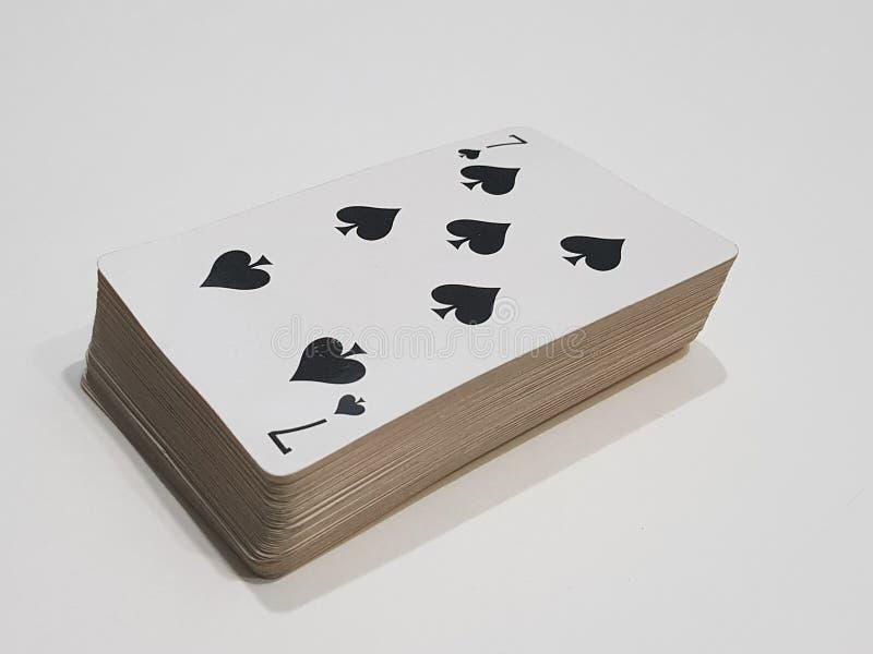 Cartão sete afortunado fotos de stock