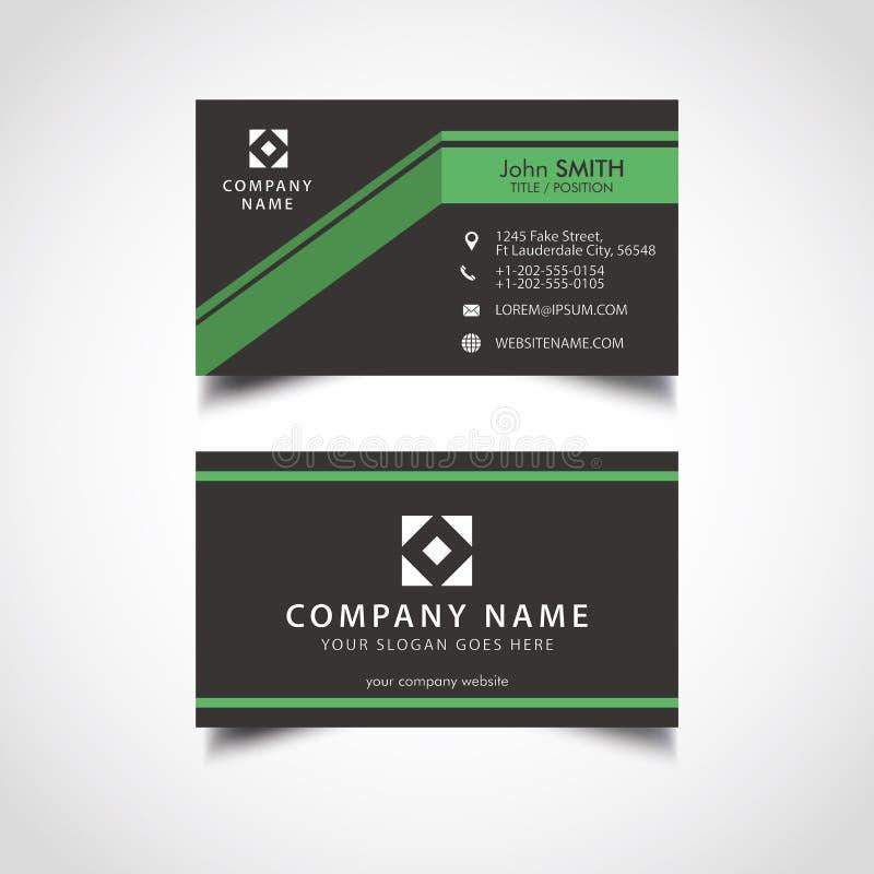 Cartão simples da cor verde e escura ilustração royalty free