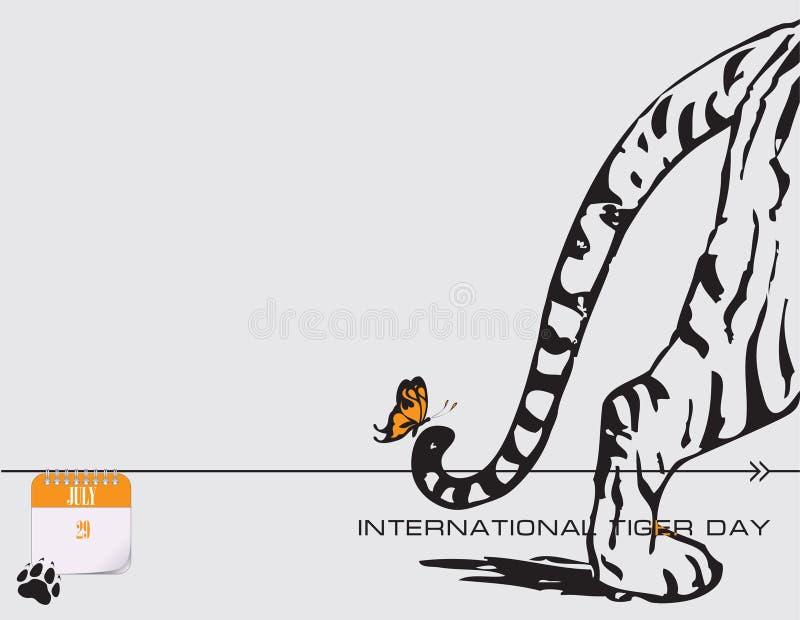 Cartão Tiger Day ilustração stock