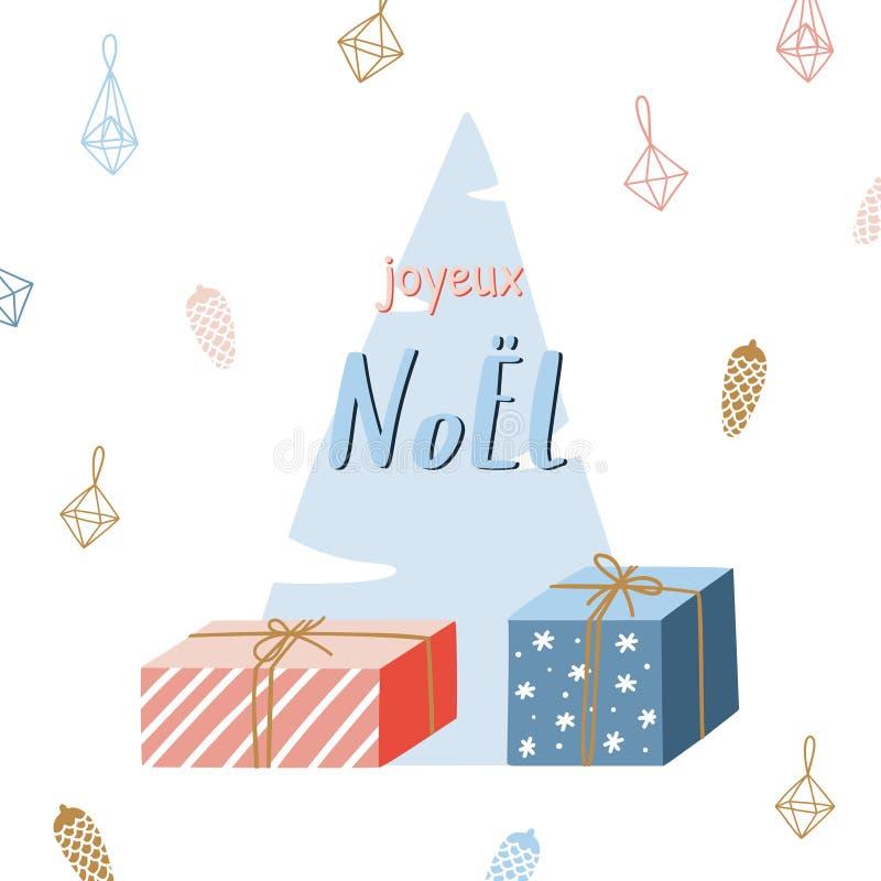 Cartão tirado mão da estação do Natal ilustração stock