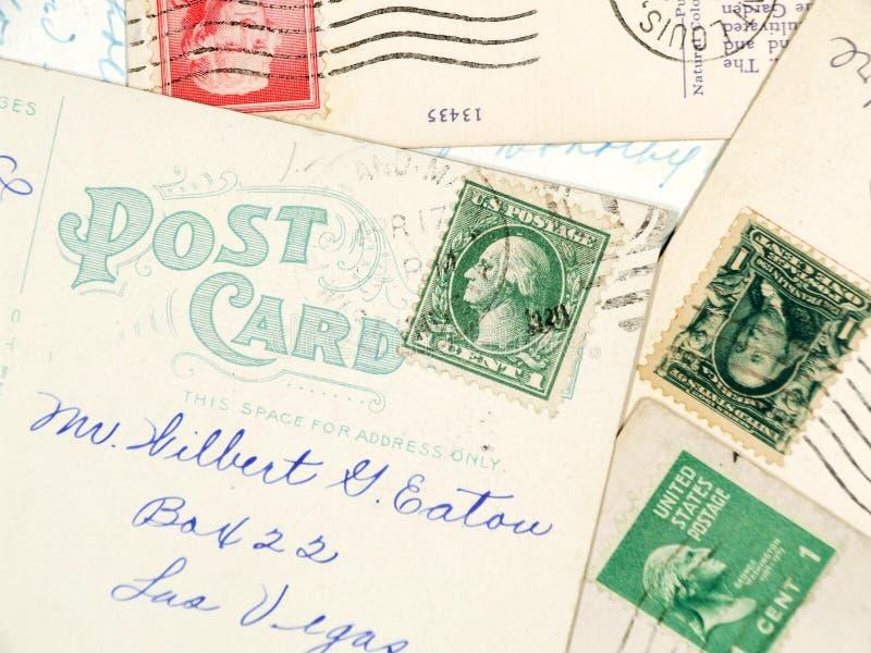 Cartão usados antiguidade fotos de stock royalty free
