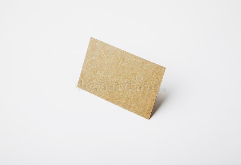 Cartão vazio da identidade do ofício com fundo branco claro imagem de stock royalty free