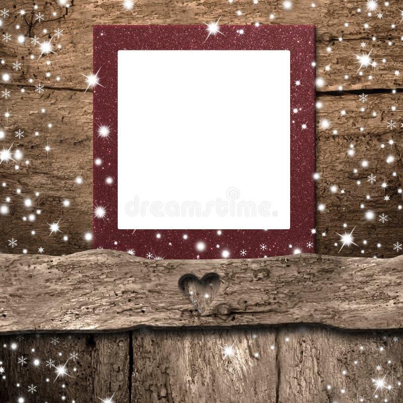 Cartão vazio do quadro da foto do Natal Copyspace fotografia de stock royalty free