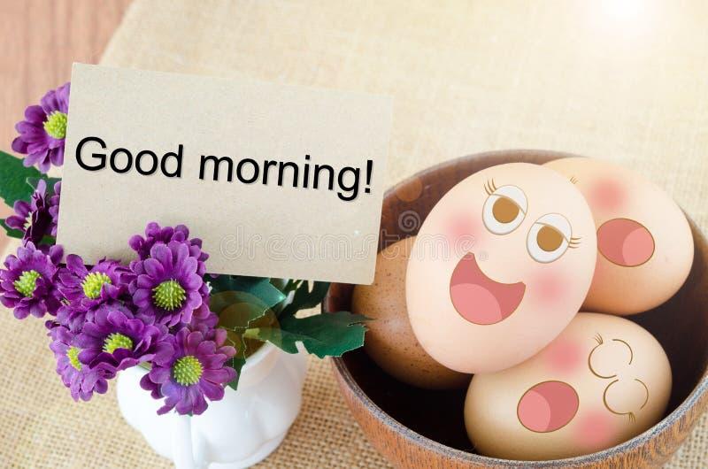 Cartão vazio e ovos fotos de stock royalty free
