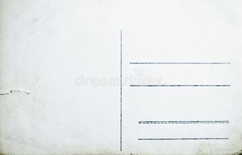 Cartão vazio velho isolado no fundo branco fotos de stock royalty free