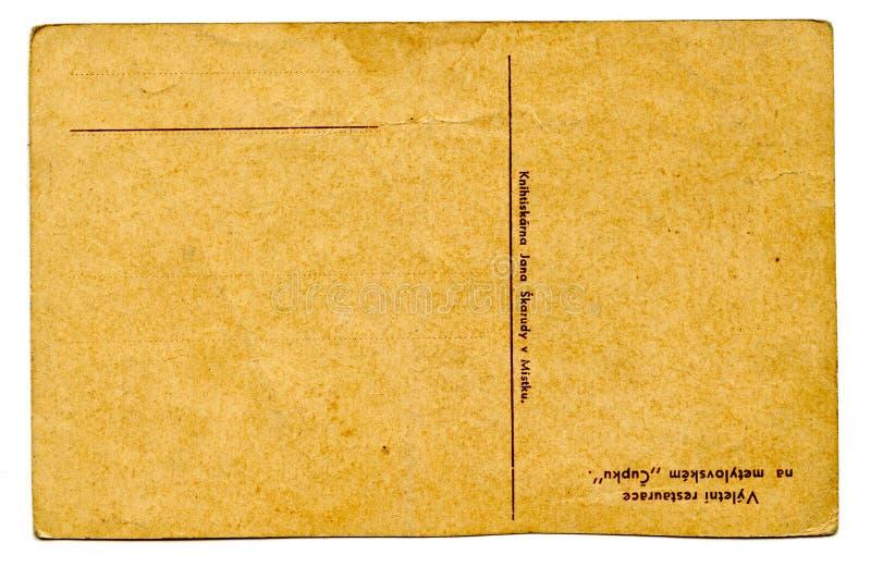 Cartão vazio velho (traseiro) fotos de stock royalty free