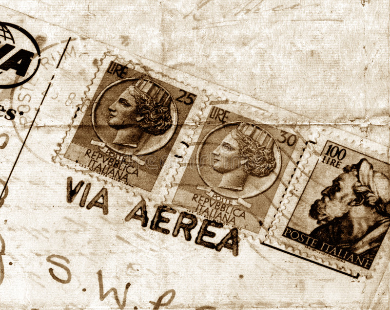 Cartão velho foto de stock