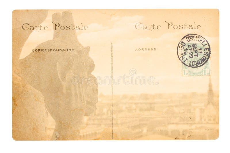 Cartão velho de Paris fotos de stock royalty free