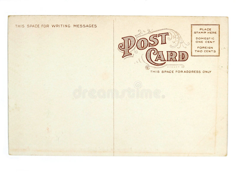 Cartão velho dos EUA foto de stock royalty free