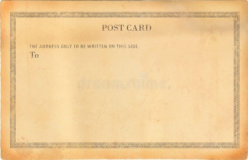 Cartão velho vazio fotografia de stock royalty free