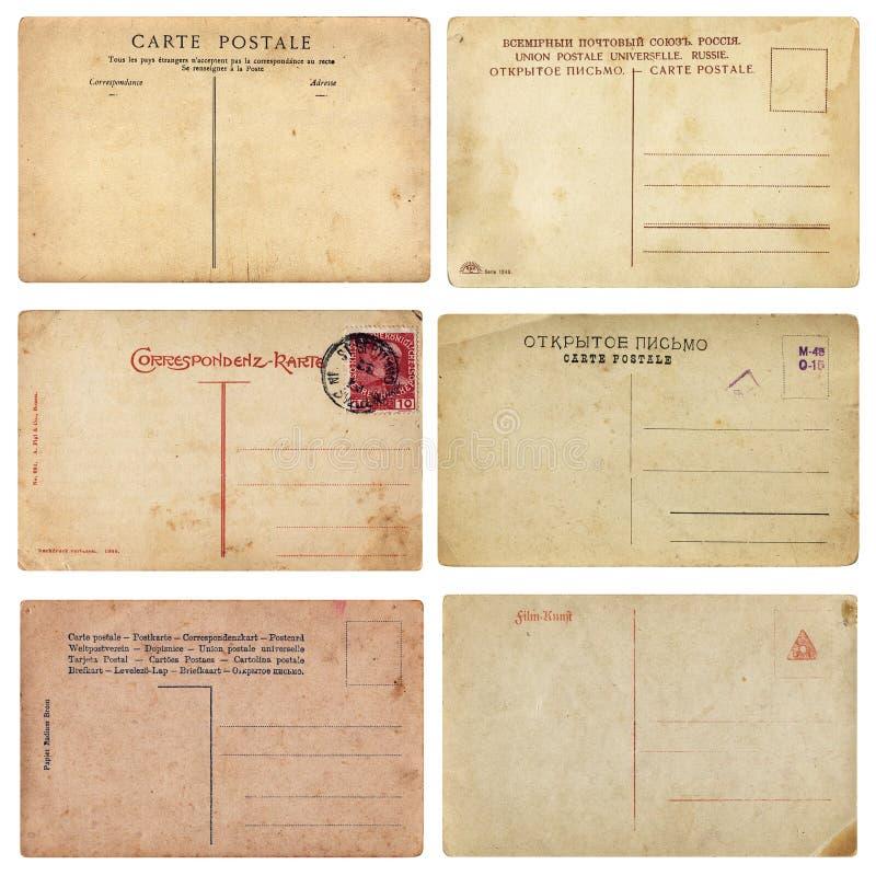 Cartão velhos do vintage fotos de stock royalty free