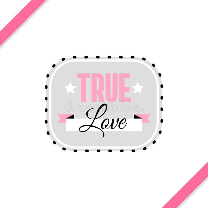 Cartão verdadeiro do amor ilustração royalty free