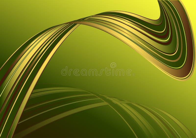 cartão Verde-amarelo com linhas ilustração royalty free