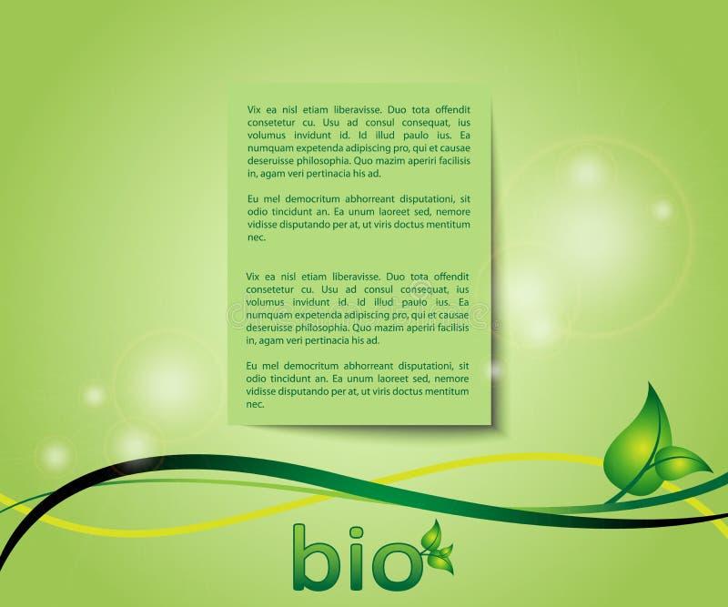 Cartão verde do fundo da ecologia ilustração royalty free