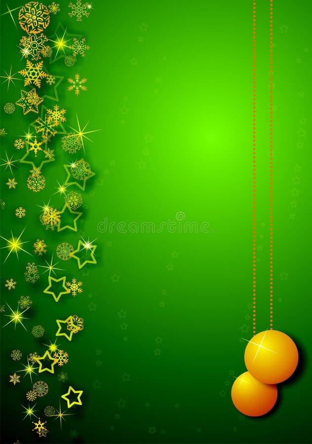 Cartão verde do Natal fotografia de stock royalty free
