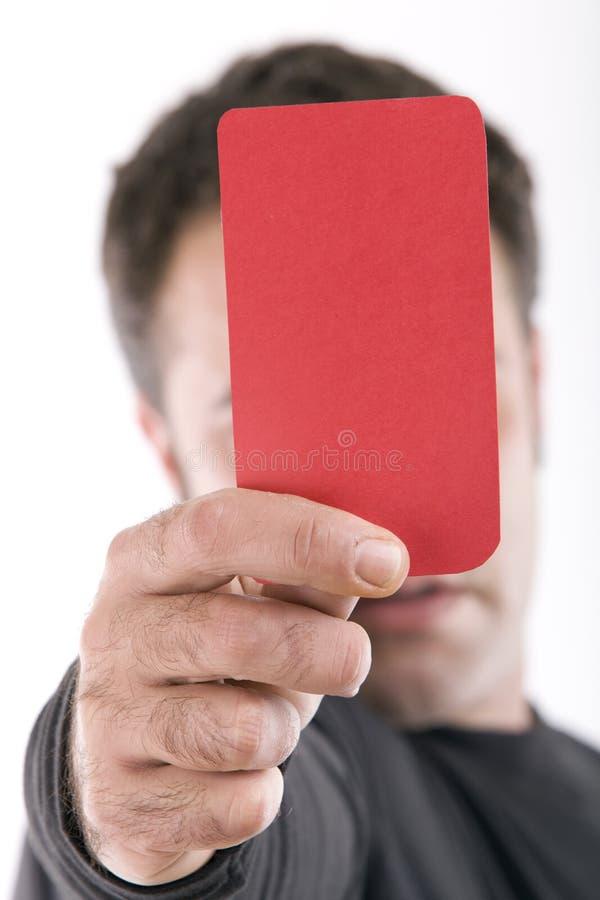 Cartão vermelho foto de stock