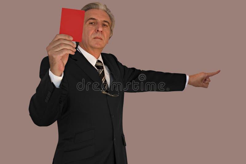 Cartão vermelho imagem de stock royalty free