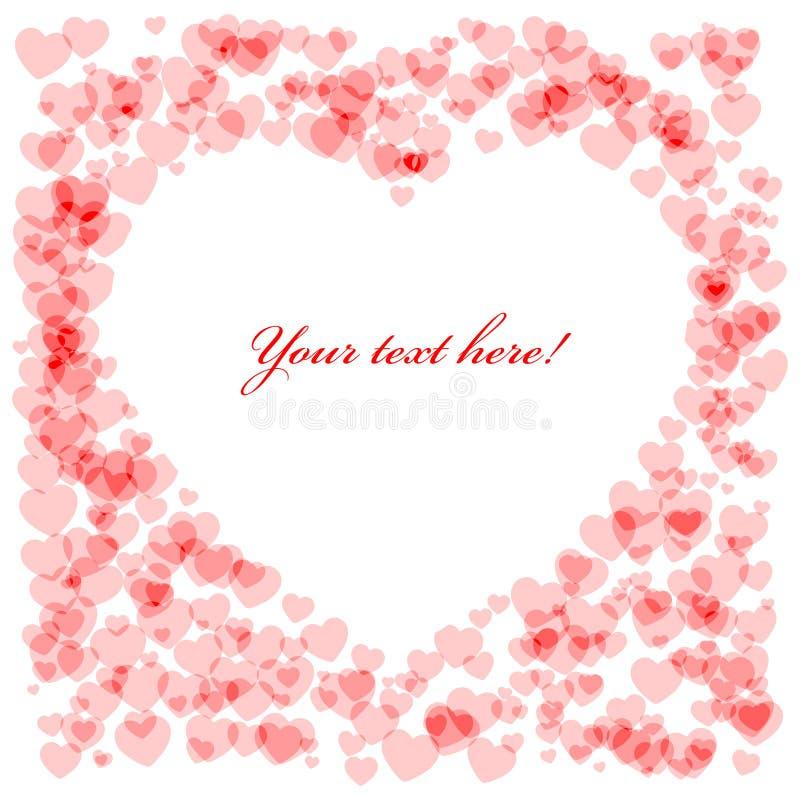 Cartão vermelho da forma do coração fotos de stock royalty free