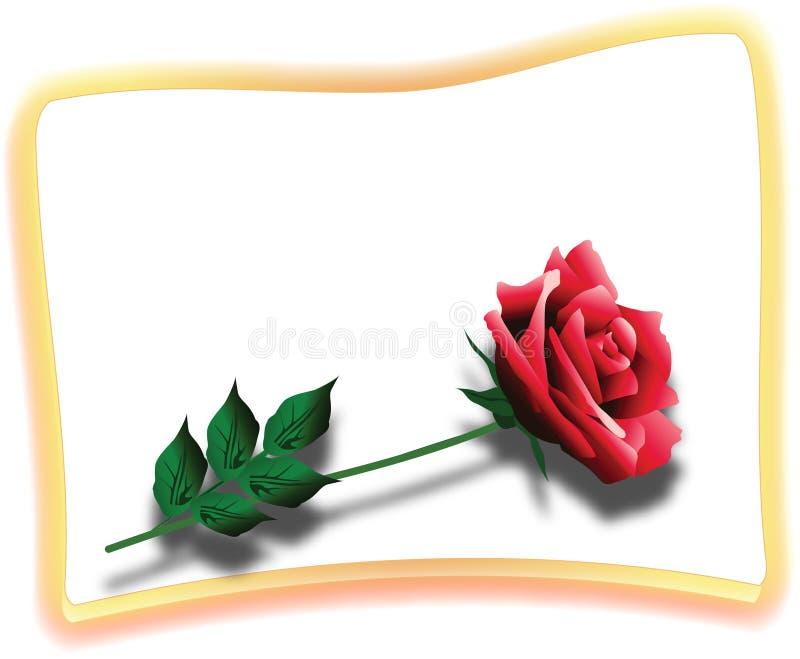 Cartão vermelho de Rosa ilustração royalty free