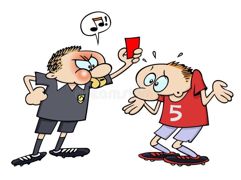 Cartão Vermelho Do Futebol Foto de Stock