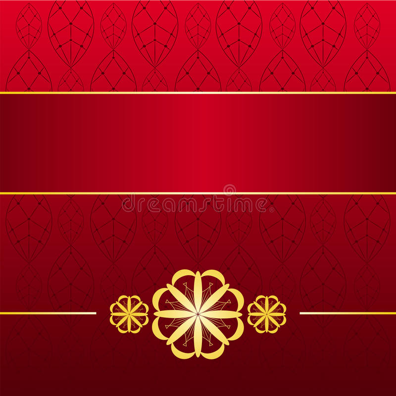Cartão Vermelho Dourado Imagens de Stock