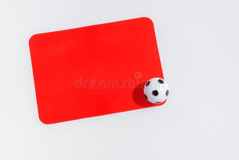 Cartão vermelho isolado imagens de stock