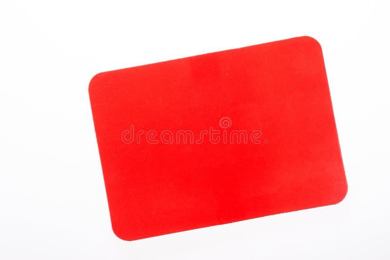 Cartão vermelho isolado no branco fotos de stock royalty free