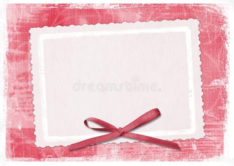 Cartão vermelho para cumprimentar no estilo retro ilustração royalty free