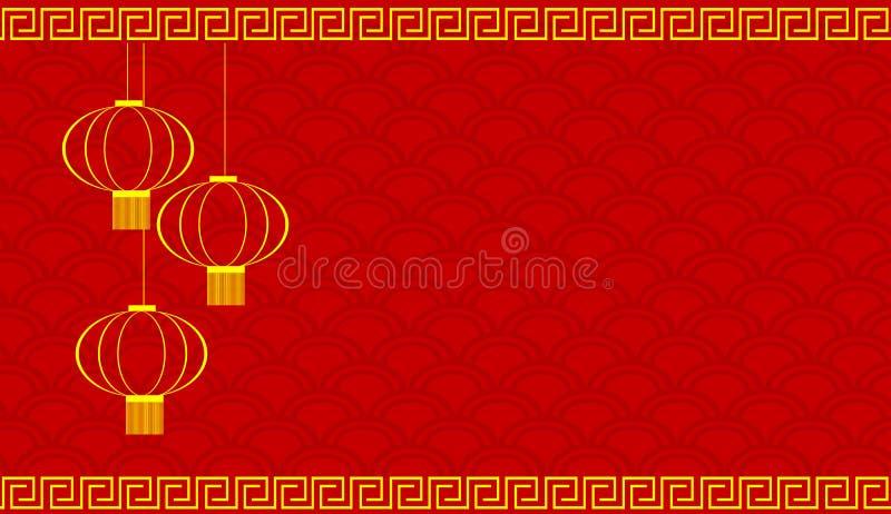 Cartão vermelho pelo ano novo chinês imagens de stock
