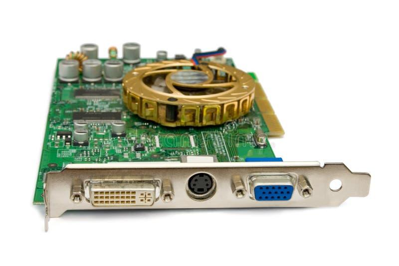 Cartão video do computador imagem de stock