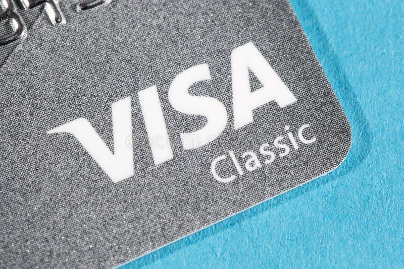 Cartão visa do crédito foto de stock royalty free