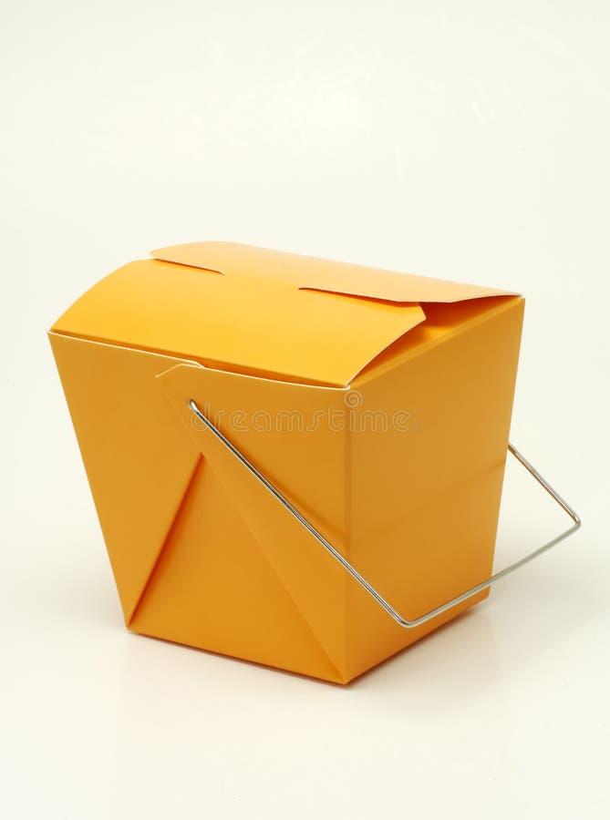 Cartón anaranjado foto de archivo