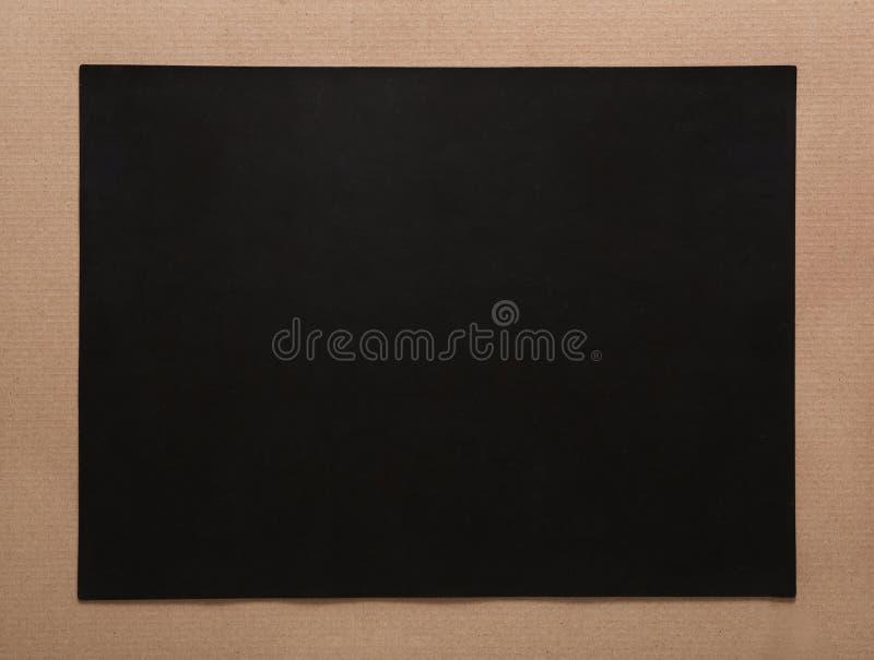 Cartón Vacío Negro Con El Marco Del Arte, Passepartout Imagen de ...